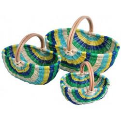 Panier moelle de rotin multicolore