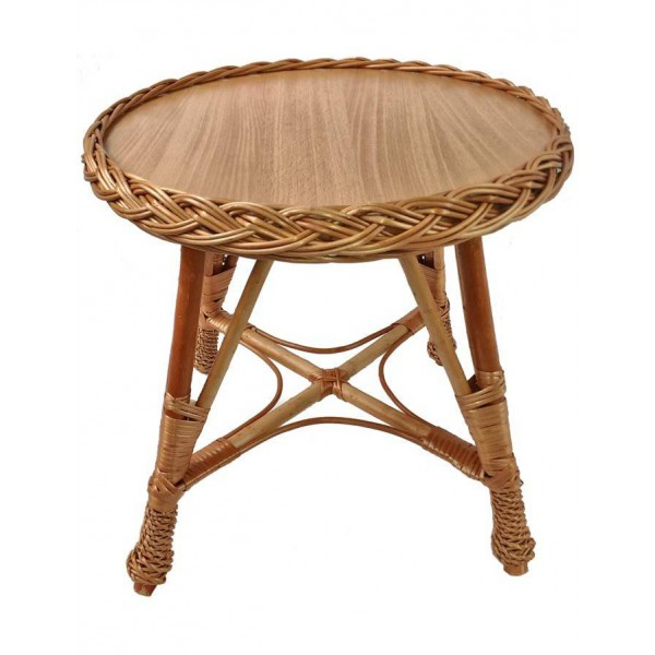 Table enfant ronde osier buff la vannerie d 39 aujourd 39 hui for Table ronde en osier