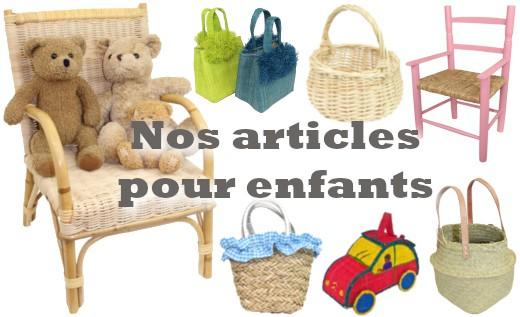 La Vannerie d'Aujourd'hui - Nos articles pour enfants